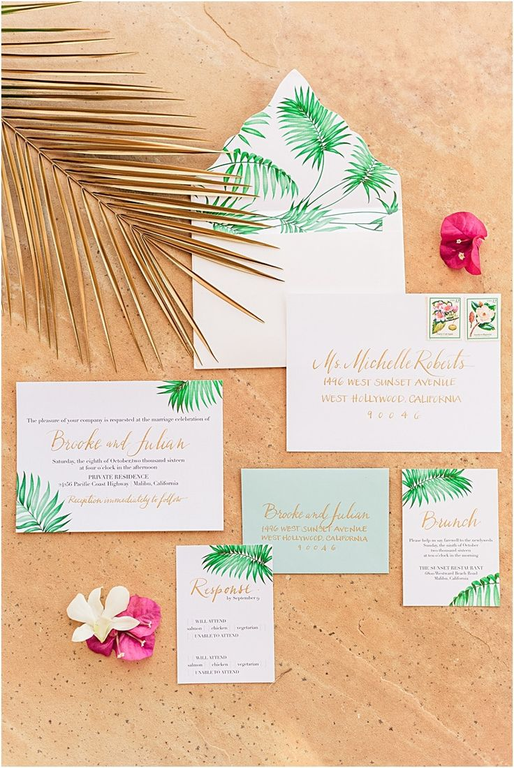 make your own wedding invitations online free%0A Tropical Wedding Invitations  In the Press