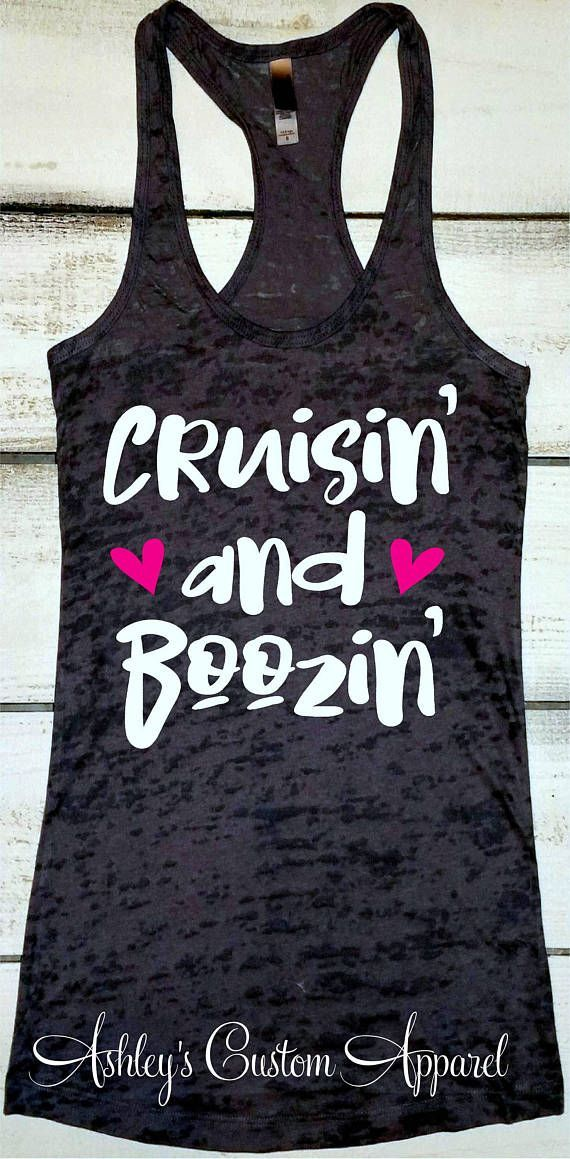add4a8a5b8 Cruise Shirts Cruisin' and Boozin' Funny Drinking Shirt Cruise Tank Tops  for Women Day Drinking Tee Swimsuit Coverup Girls Weekend Shirts  #model#tankinis# ...