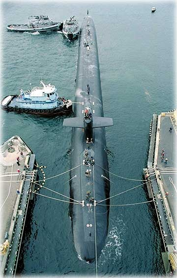 a fully armed trident-class nuclear submarine