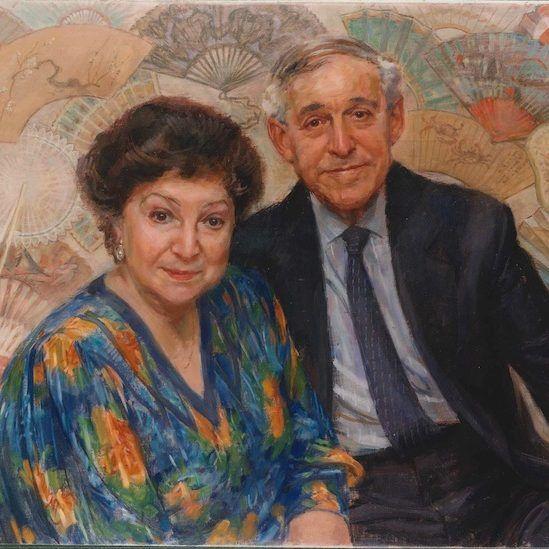 June Mendoza 'Helene and Dickie Alexander-The Fan Museum'