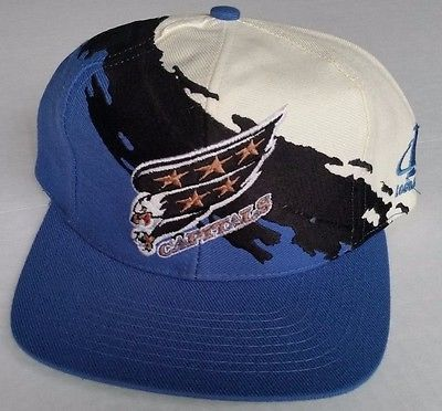 Washington Capitals Snapback Vintage Logo Athletic Splash Hat NHL Ovechkin RARE