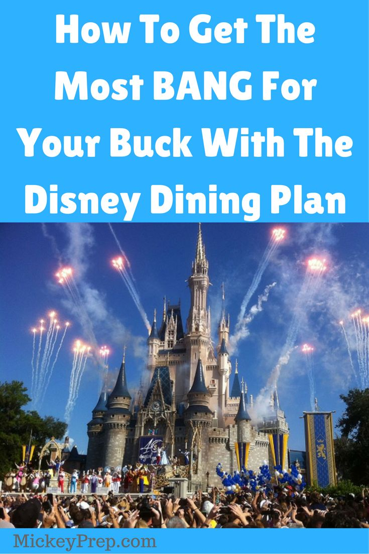 guest post on how to get the most bang for your buck with the Disney dining plan options. Tips and tricks to save time and money on all things Disney.