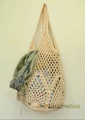 Pineapple Market Bag Free Crochet Pattern