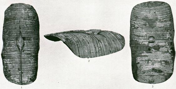 The Fayum Kasr el-Harit scutum, probably Roman, 1st century B.C. now missing.