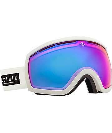 Electric EG2.5 White Tropic Rose & Blue Chrome Snowboard Goggles