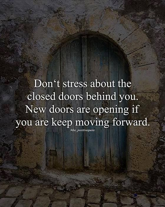 Positive Quotes Don't Stress About The Closed Doors Quotes Awesome Quotes About Doors