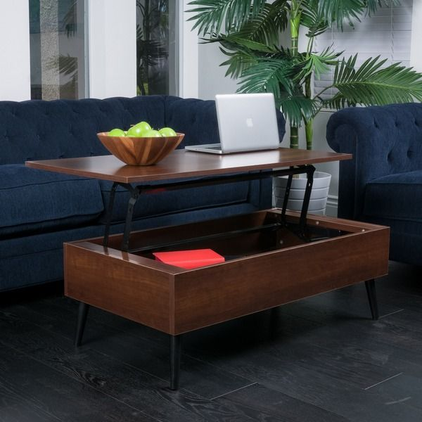 Christopher Knight Home Elliot Wood Lift-Top Storage Coffee Table