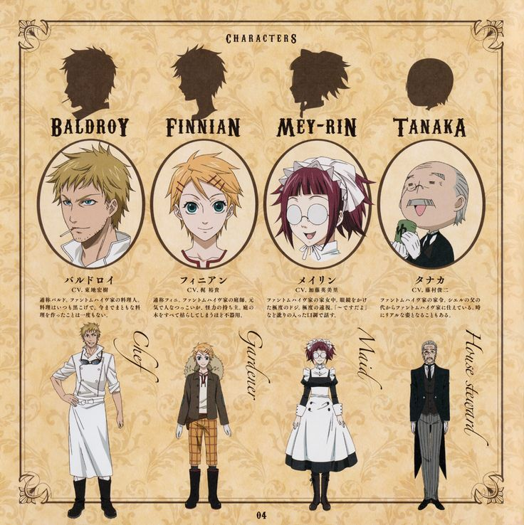black butler book of murder characters - Google Search