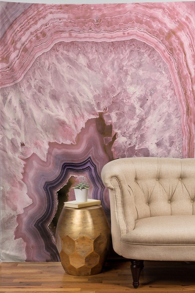 Emanuela Carratoni Pale Pink Agate Tapestry | DENY Designs Home Accessories