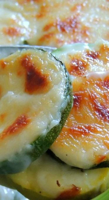 Italian Cheese Scalloped Zucchini - substitute flour for THM S