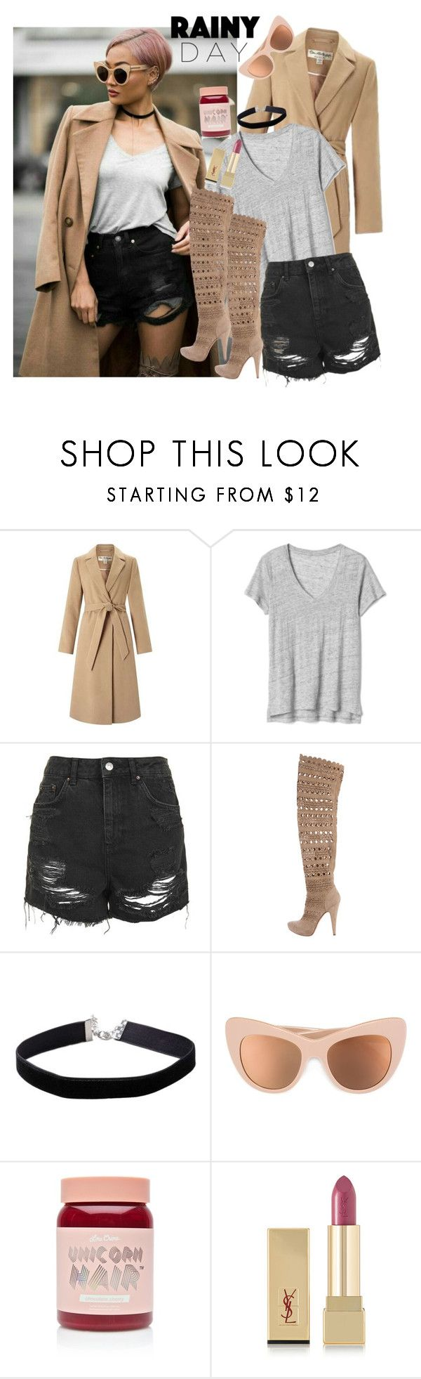 """Micah-Rainy Day"" by dobesht ❤ liked on Polyvore featuring Miss Selfridge, Gap, Topshop, Gianmarco Lorenzi, STELLA McCARTNEY, Lime Crime and Yves Saint Laurent"