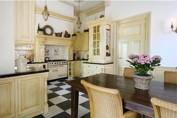 Kitchen in restored mansion from 1894. Rotterdam, Netherlands