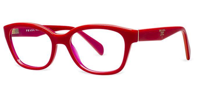 prada red frames