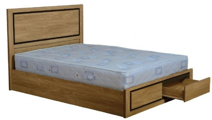 Bedroom : Brown Wooden Double Bed With Storage On Top Soring Bed White Background Make Your Room Look Organized With Double Bed With Storage Bedroom Modern Lighting. Modern Bedroom. Wooden Cupboard.