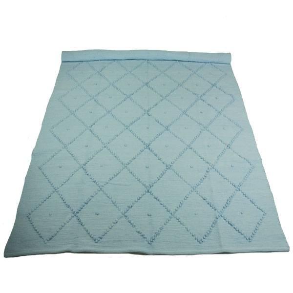 Naco Trade vloerkleed ruit lichtblauw 150x200 cm