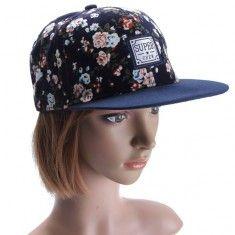 Moda floral del Snapback de la Mujer ajustable Gorra de béisbol de Hip Hop Gorras