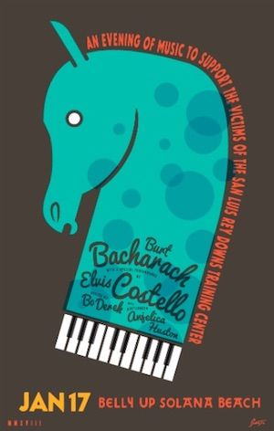 Burt Bacharach, Elvis Costello Concert Jan. 17 To Benefit San Luis Rey Downs Fire Victims - Horse Racing News | Paulick Report