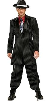 Gangster Mens Costume. Looking dangerous in those pinstripes this could be just the 20s gangster costume you are after! Ships Australia wide Fast