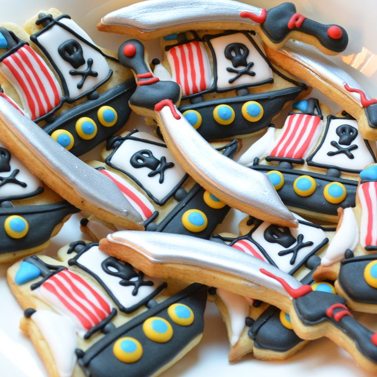 Pirate Ships and Sword Sugar biscuits