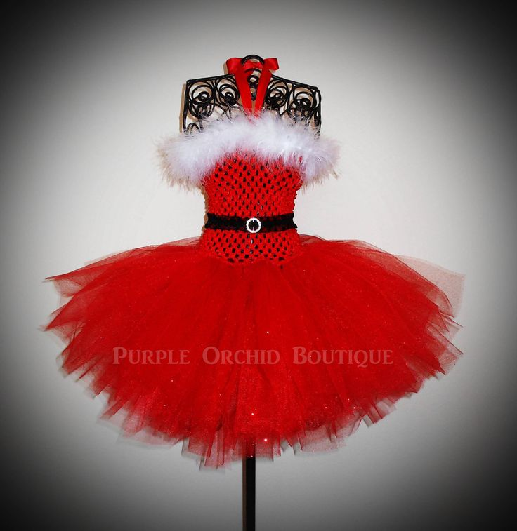 Santa Baby Christmas Tutu Dress in Red by PurpleOrchidBoutique, $30.00