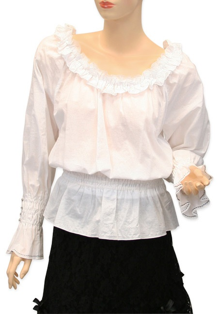 Peasant Blouse - White, from Steampunk Emporium