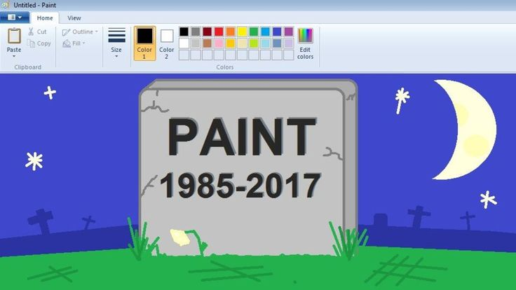 Paint has been part of the Windows operating system since its release in 1985.