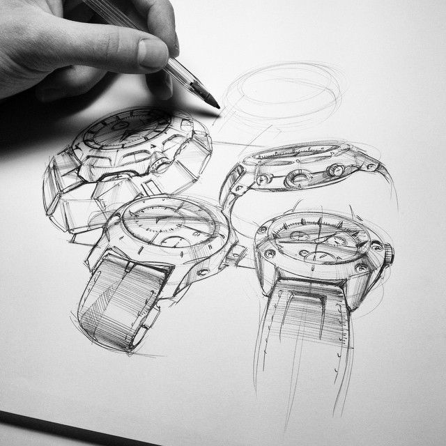 Watch sketches with BIC pen