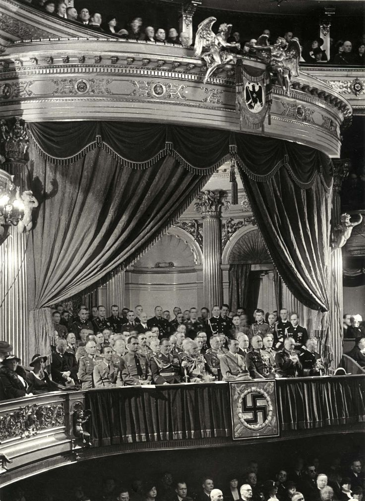 An excellent print from 1936 showing Hitler at the Berlin State Opera on the…