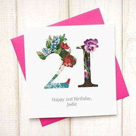 Personalised Floral Birthday Card: Item number: 3636808059 Currency: GBP Price: GBP4.95