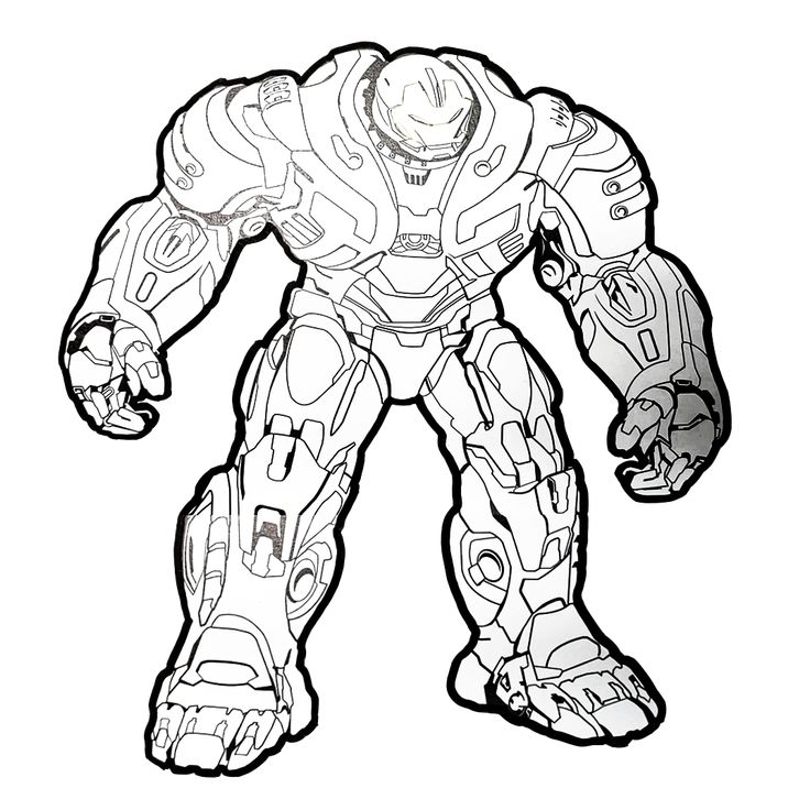 There is Avengers Iron man Hulkbuster drawing paper! You