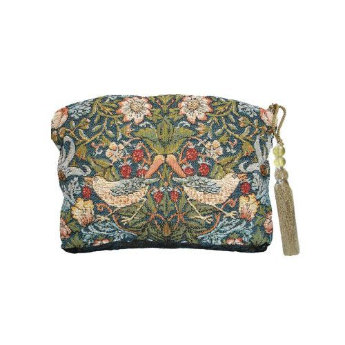 One of the most popular Morris tapestry designs, the Strawberry Thief Tapestry Purse is a beautiful lined and zipped purse. Made in England, the Strawberry Thief Tapestry Purse is available online at English Heritage gift shop.