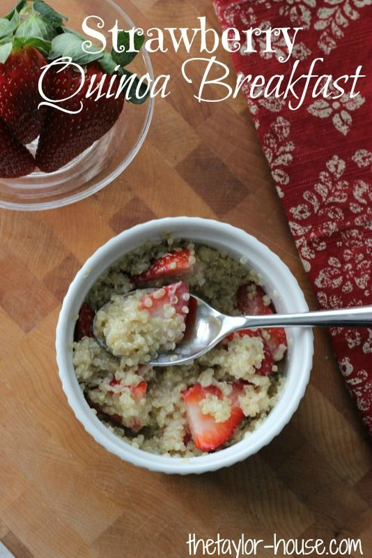 Healthy Breakfast Idea: Strawberry Quinoa #healthy #recipes #quinoa