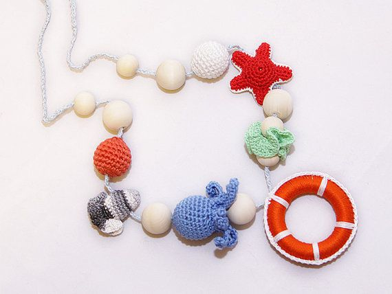 Sea Teething necklace / Breastfeeding necklace / от YarnyWishes, $32.00