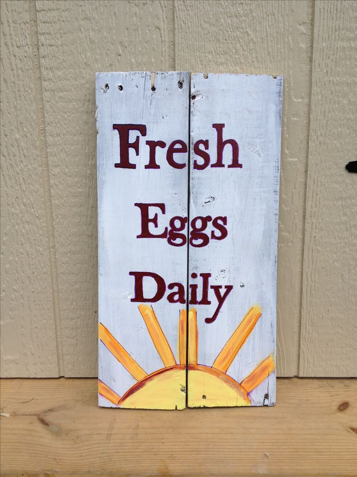 Weathered sign for my chicken coop made from a old pallet