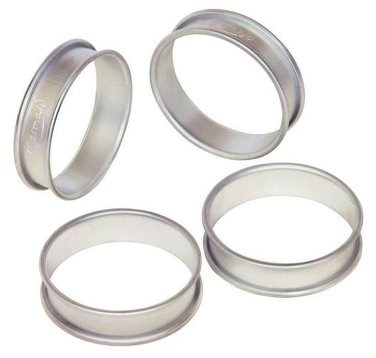Mermaid M0104 Crumpet Rings Set Of 4 Aluminium Muffin Mould Poached Egg 8cm Ring in Home, Furniture & DIY, Cookware, Dining & Bar, Bakeware & Ovenware   eBay