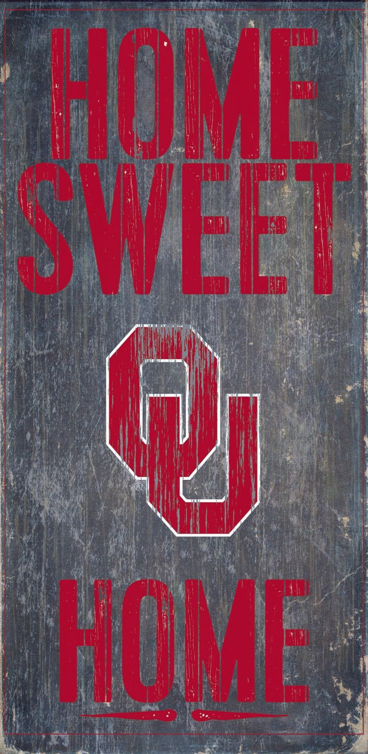 Oklahoma Sooners Wood Sign - Home Sweet Home 6x12
