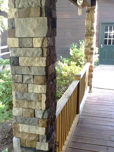 Faux Stone Porch Columns : How to update with beautiful faux stone finish