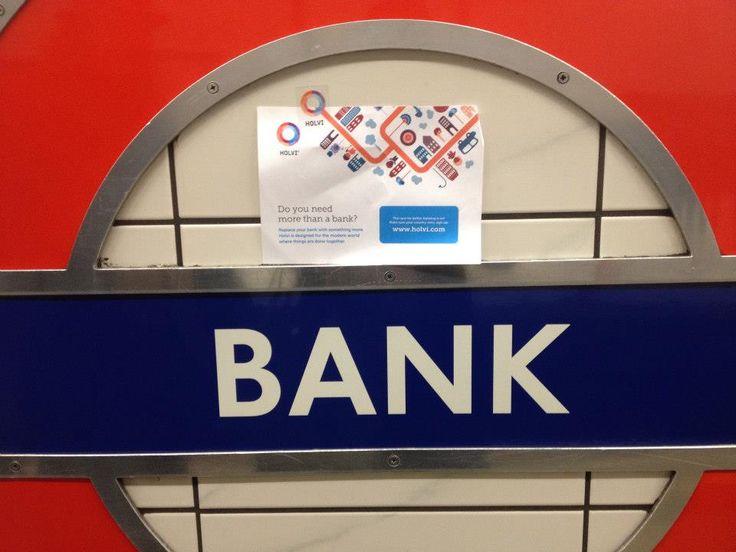 Holvi's Build a Bank   London 2013 - Guerilla marketing :) #Holvi #FinTech #FutureOfBanking