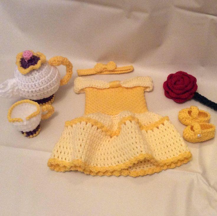 Crochet Beauty and the Beast Newborn Photography Prop