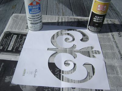 MIMI MINE: How to Make and Use a Stencil Using Cricut Expression