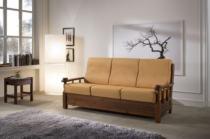 Sofa - solid pine structure. Ergonomic cushions. #sofa #living #cushions #pine #wood #interior #furniture #modern #country #madeinitaly #design #product #hardwood