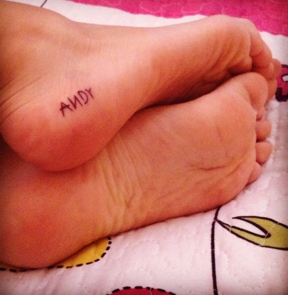 Toy Story 'Andy' tattoo . . . I would never usually think a tattoo with a significant other's name is a good idea, but this is adorable <3