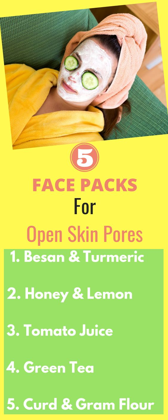Effective Homemade Face Pack To Treat Open Pores