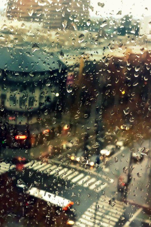 Rainy day in California.