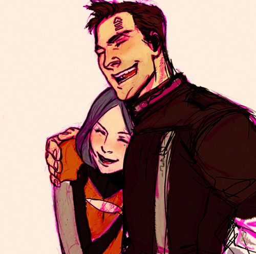 Axton and Maya by milch-tuete / anjakes http://milch-tuete.tumblr.com/ http://anjakes.deviantart.com/ #borderlands