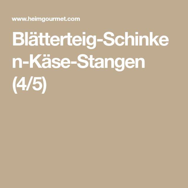Blätterteig-Schinken-Käse-Stangen (4/5)