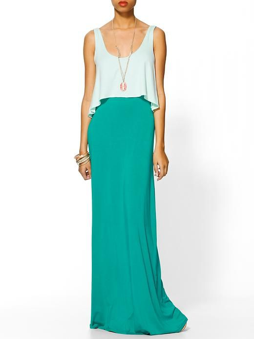 dress that looks like a maxi skirt and top!