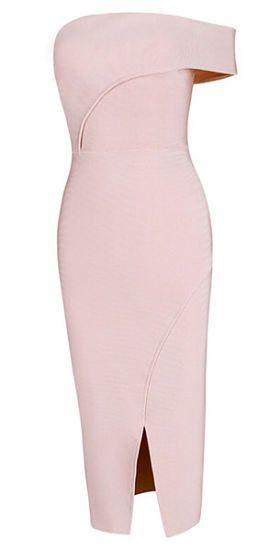 London Ligth Pink Bandage Dress