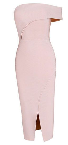 London Ligth Pink Bandage Dress