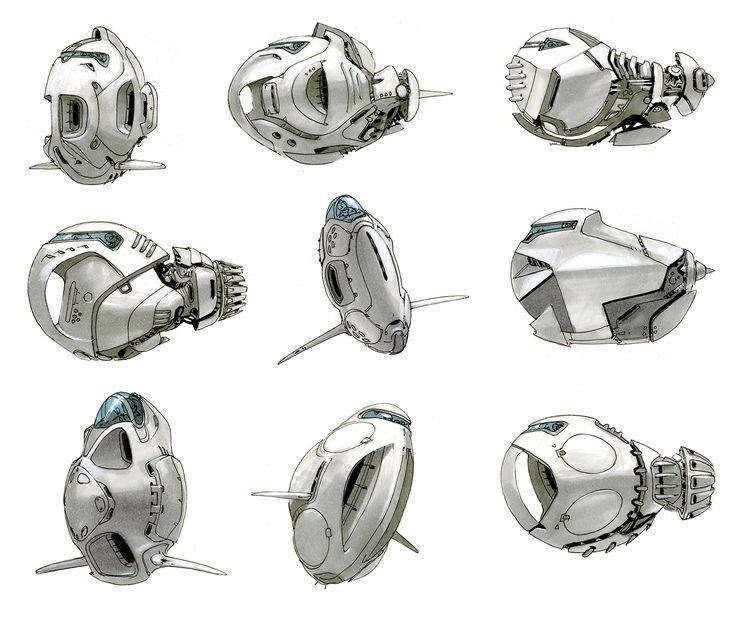 concept ships: Concept spaceship art by Scott Robertson